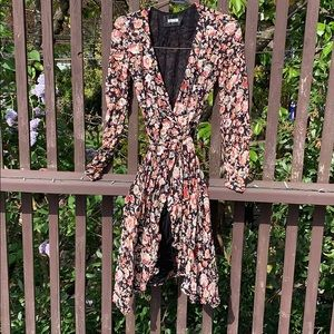 XS Reformation Floral Wrap Dress